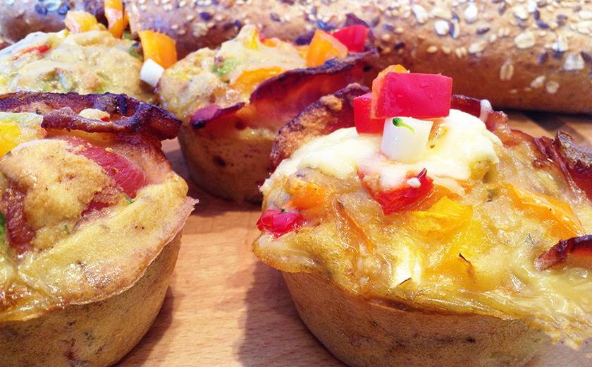 heerlijke luchtige ei muffins
