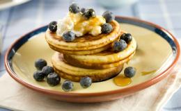 Blauwe Bessen Bananen Ricotta Pannenkoekjes