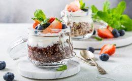 Blauwe Bessen Quinoa Parfait